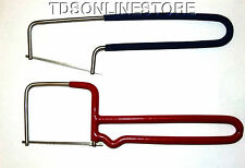 Small Jewelers And Crafters Saws With Blade Stainless Steel Frames 2 Pc