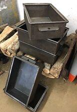 One, Vintage Industrial Steel Metal Storage Bin Box