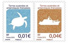 TAAF Frans Antarctica 2016 Schildpad  schip   2w samenhangend   postfris/mnh