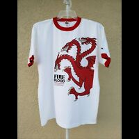 Game Of Thrones Fire & Blood Targayen Tshirt white SIZE XL