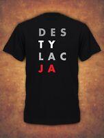 Destylacja Konstytucja Koszulka Protest Polska 2019 Unia Mens T-shirt - black
