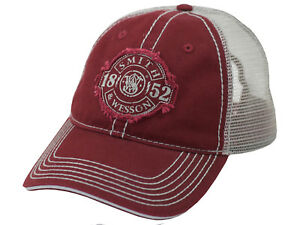 SMITH & WESSON *MAROON & SILVER MESH BACK est 1852* HAT CAP *NEW* SW96