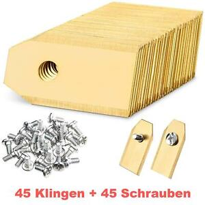 45 Stück Titan Ersatz-Messer Klingen für Gardena Mähroboter Rasen Mäher Roboter