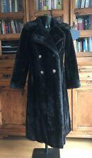 VINTAGE FAUX SIMULADO Abrigo/Chaqueta De Piel Mujer Marrón oscuro larga señoras Debenhams