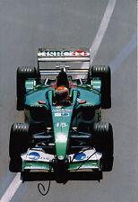 Antonio Pizzonia mano firmado Jaguar Racing F1 12x8 Foto 5.