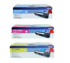 3 Brother Genuine Toners TN-340C TN-340Y TN-340M  For HL4570 MFC9970 1.5K Pages