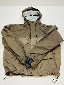 L.L. Bean Waterproof Fly Fishing Jacket men large brown