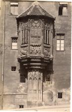 Allemagne, Nuremberg, Baie vitrée au presbytère Sebalder, ca.1880, vintage album