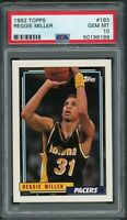 Reggie Miller Indiana Pacers 1992 Topps Basketball Card #193 Graded PSA 10