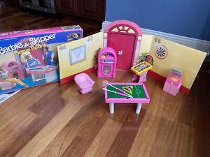 Vintage 1988 Barbie & Skipper Game Room Playset ORIGINAL BOX RARE! NIB