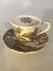 Vintage Ridgway Ridgways Meadowsweet Ironstone Staffordshire Cup And Saucer