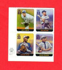 SCOTT # 3408 K-L,P-Q Legends of Baseball Issue U.S. Stamps MNH Plate Block of 4