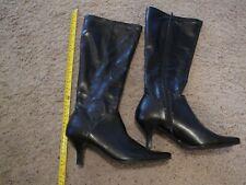 Bass Black Knee High Boot Heel 9 Med
