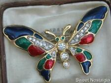 Butterflies/Insects Enamel Vintage Costume Jewellery (1980s)