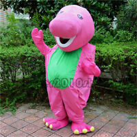 Halloween Barney Dinosaur Mascot Costume Suits Party Game Dress Adults Cosplay