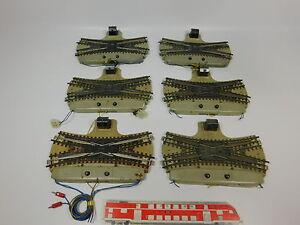 AQ27-2 #6x Märklin H0/AC 3600/800 Doble Kreuzungsweichen / DKW Defecto/Manitas