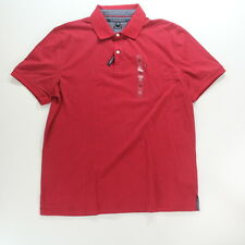 Tommy Hilfiger Polo/Rugby Shirt Red Striped Men's Size XL X-Large Custom Fit $60