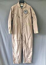 CWU-27/P FLIGHT SUIT sz 44 Desert Tan Nomex w/ Squadron Patch?  USAF Army