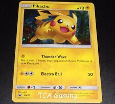 Pikachu SM76 SM Sun & Moon Black Star Promo HOLO Pokemon Card NEAR MINT