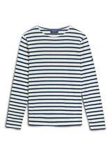 NWT Saint James Minquiers Modern Striped Long-Sleeve T-Shirt Top Sz S