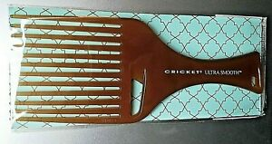 Cricket Hair Pick Comb Ultra Smooth Infused w/ Olive Oil & Keratin Protein Argan
