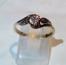 9ct solid gold diamond ring R113