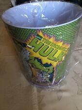 VINTAGE THE INCREDIBLE HULK WASTE PAPER Basket (1998) TIN BOX COMPANY