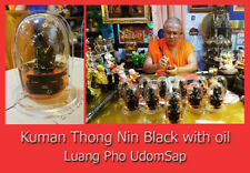 Thai Amulet Big Kuman Thong Nin Black with oil Metta Talisman Lp Udomsap No2