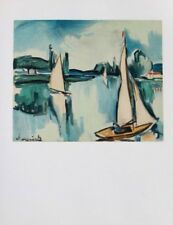 Maurice de Vlaminck Lithograph Limited Sailing Boats On The Seine 1958 Rare