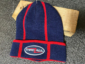 Vintage Third Rail Mill clothing Skater Beanie Cap Embroidered OS