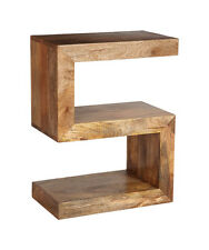 Manhattan Light Solid Mango Furniture Side Table (h36l)