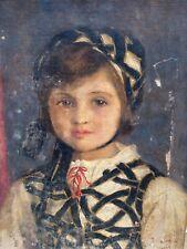 Neville Stephen LYTTON (1879-1951) & Portrait de Jeune Fille & Huile sur Toile