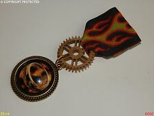 Steampunk Medal pin drape badge brooch lord of the rings One Ring Frodo Mordor