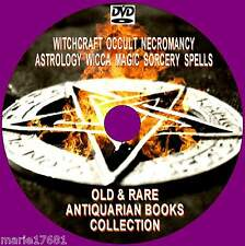 GREAT COLLECTION OLD RARE WITCHCRAFT WICCA MAGIC SPELL ASTROLOGY BOOKS NEW PCDVD