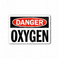 Danger Oxygen Sign Sticker