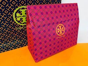 "NEW Tory Burch Large Gift Logo Bag Box Flap Instant Closure 12""L x 10.5""H x 5""W"