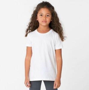 Girls Kids FRUIT OF THE LOOM Plain White T-Shirt Cotton School PE Ages 1-15