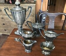 VINTAGE ROGERS BROS. 1847 SILVERPLATE COFFEE URN 6 PIECE TEA SET
