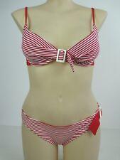 Miduo Ladies 2 Piece Bikini Swimwear Swimsuit Set size Large Colour Red White