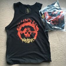 Discontinued Zero Foxtrot Black 'Warboys' Fury Road Tank Top/T Shirts Size Large
