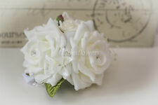 Wedding Flowers Wrist Corsages in Ivory