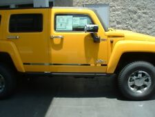 2008 Hummer H3  Custom Designed Laser Cut Stainless Door Accents w /LOGO