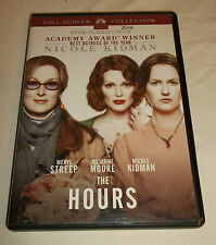 The Hours DVD, 2003 Nicole Kidman Meryl Streep Julianne Moore Full Screen Movie