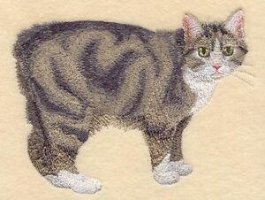 Embroidered Ladies Fleece Jacket - Manx Cat C7953 Sizes S - XXL