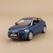Model Car Audi A1 2010 Blue 1:32 11.5cm Die-Cast Pull-Back Doors Open Detailed