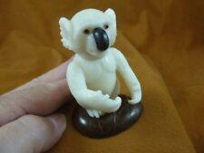 (Tne-Bea-Ko-763A) little Koala Bear Tagua Nut Figurine Carving Vegetable palm
