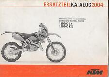 2004 KTM MOTORCYCLE 125/200SX & 125/200EXC CHASSIS SPARE PARTS MANUAL (378)