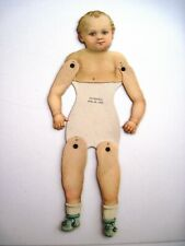 1880 Large Paper Doll w/ Movable Joints w/ Die Cut Head and Legs w/ Shoes    *