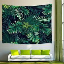 Tropical Palm Tree Leaves Dark Style Tapestry Wall Hanging for Home Bedroom