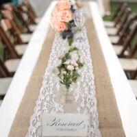 Chemin table dentelle jute rustique coureur mariage Vintage Party Décoration ME